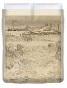 Arles View From The Wheatfields Duvet Cover