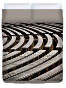 Arlington Cemetery Amphitheater Benches #2 Duvet Cover