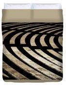 Arlington Cemetery Amphitheater Benches Duvet Cover
