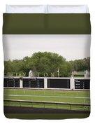 Arlington Park Race Track Duvet Cover