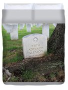 Arlington Tombstone Lodged In Tree Trunk Duvet Cover