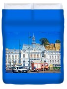 Armada De Chile In Valparaiso-chile  Duvet Cover