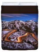 Around The Bends Duvet Cover
