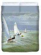 Around The Buoy Duvet Cover by Timothy Easton