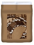 Around The Pond Sepia Duvet Cover