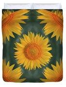 Around The Sunflower Duvet Cover