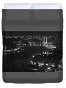 Arrabida Bridge By Night Duvet Cover