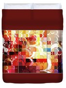 Arraygraphy - Sunset Inferno Triptych Duvet Cover