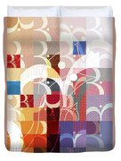 Arraygraphy - Sunset Inferno Triptych Part 3 Duvet Cover