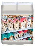 Array Of Handmade Birdhouses For Sale Duvet Cover