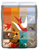 Arraygraphy - Birdies Triptych Part2 Duvet Cover