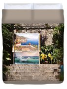 Art At Top Of Stairs Duvet Cover