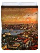 Art Beautiful Views Exist Fragmented Duvet Cover