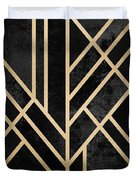 Art Deco Black Duvet Cover by Elisabeth Fredriksson