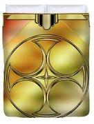 Art Deco Brass 3 Duvet Cover