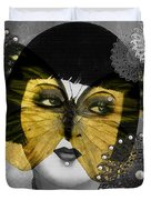Art Deco Butterfly Woman Duvet Cover