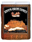 Art Deco Orient Express Advertising Athens Duvet Cover