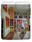 Art Gallery In Havana Duvet Cover