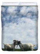 Art Goats II Duvet Cover