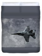 Art In Flight F-18 Fighter Duvet Cover by Aaron Lee Berg