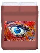 Art In The Eyes Duvet Cover