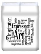 Art Inspiration Creativity Duvet Cover
