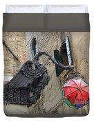 Art Nouveau Dragon In Marzaria Venice Italy Duvet Cover