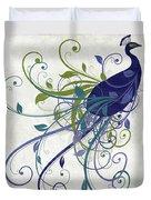 Art Nouveau Peacock I Duvet Cover