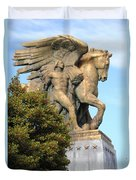 Art Of Peace Pegasus Duvet Cover