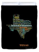 Art Print, Pop Art Texas Map, Modern Style Country Map, Country Maps For Home Decor, Pop Art Map Pri Duvet Cover