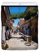 Art Street In Varazdin Duvet Cover