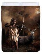 Artemis Goddess Of The Hunt Duvet Cover