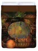 Artful Pumpkins Duvet Cover