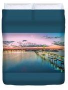 Arthur Ravenel Jr. Bridge Light Trails Duvet Cover