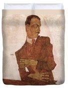 Arthur Roessler Duvet Cover by Egon Schiele