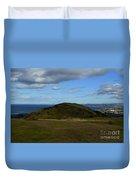 Arthur's Seat And Edinburgh Scotland Duvet Cover