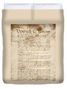 Articles Of Confederation Duvet Cover