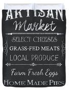 Artisan Market Sign Duvet Cover