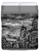 Artistic Bass Harbor Lighthouse In Acadia Duvet Cover