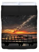 Artistic Black Sunset Duvet Cover