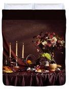 Artistic Food Still Life Duvet Cover