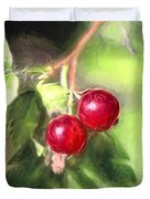 Artistic Panterly Two Wild Goosberries Duvet Cover