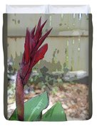 Artistic Red Canna Lily Duvet Cover