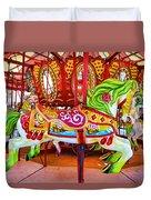 Artistically Textured Carousel Duvet Cover