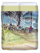 Artists By The Sea Duvet Cover