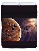 Artists Concept Of A Supernova Duvet Cover