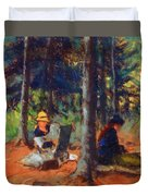 Artists In The Woods Duvet Cover