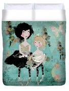 Artsy Girls Duvet Cover
