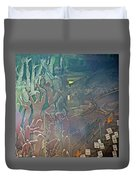 Artwork Representing The Disappeared Located Under A Bridge In Buenos Aires-argentina  Duvet Cover