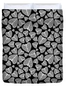 Black And White Leaf Abstract Duvet Cover